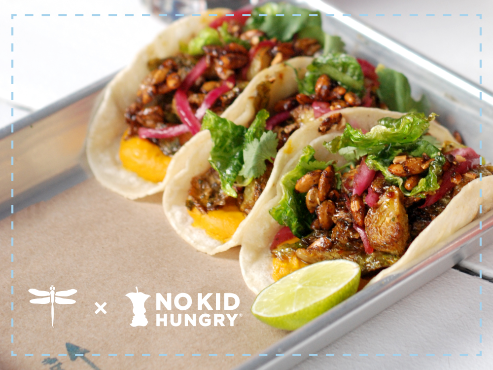 the #bartacosecret roasted brussels sprouts taco is back + benefitting No Kid Hungry 1