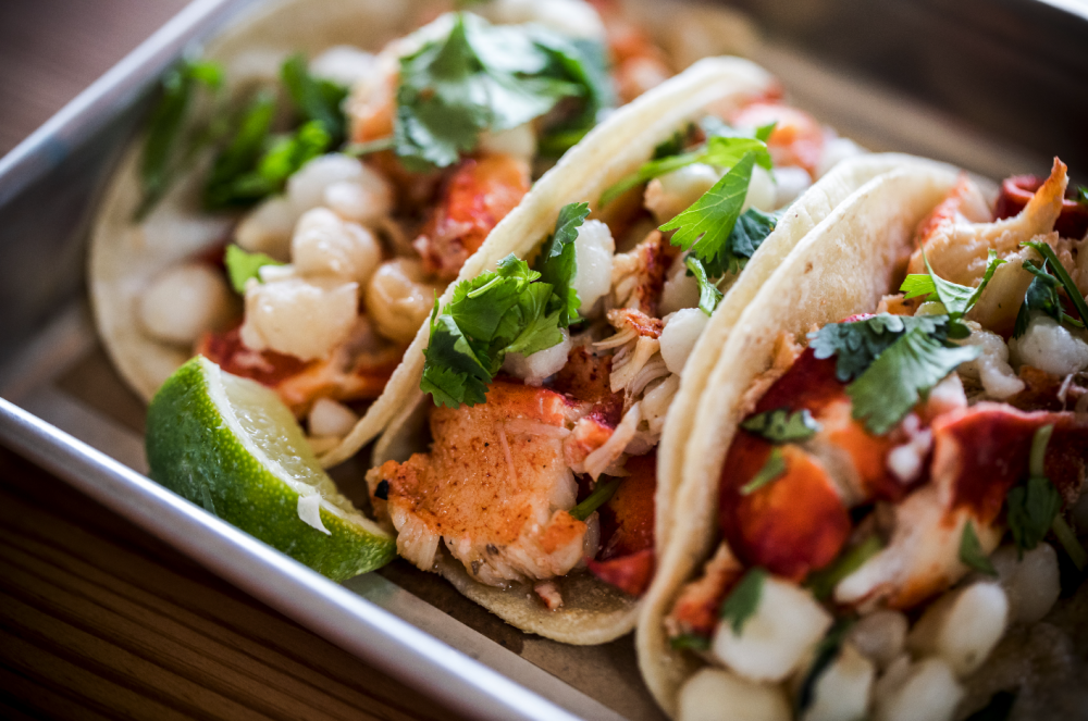 close up image of the lobster taco kit, now available at order.bartaco.com