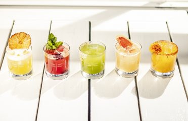 photo of five cocktails