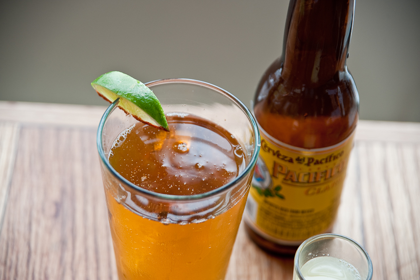 Pacifico beer from bartaco